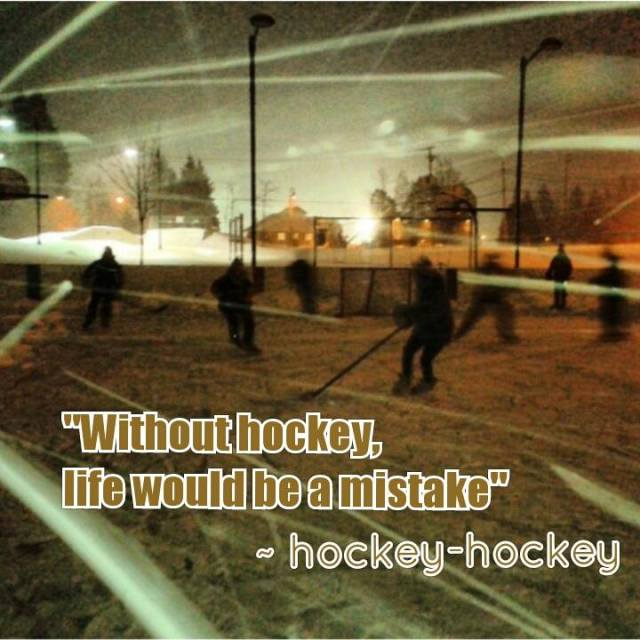 Without hockey, life would be a mistake