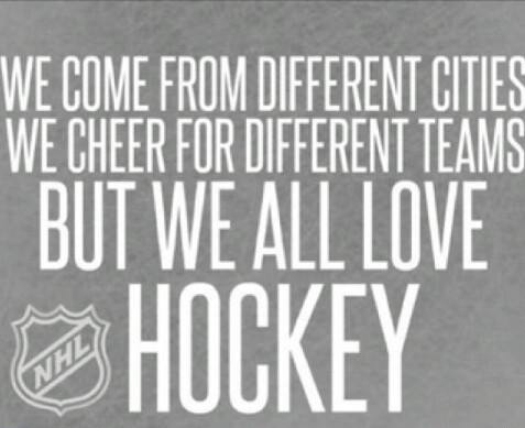 We all love hockey